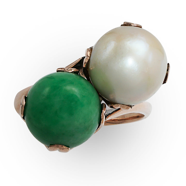 Pearl and Jade Ring