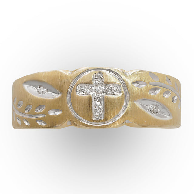Diamond Cross Ring