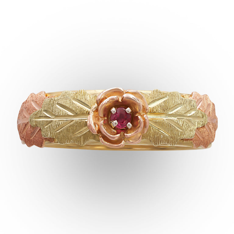 Tri-color Gold Ruby Ring