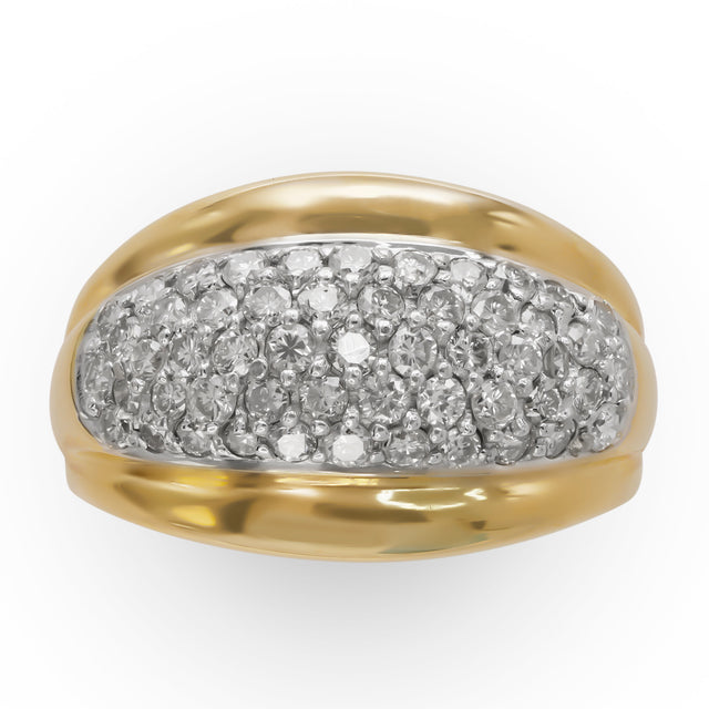 Yellow Gold Pave Diamond Ring
