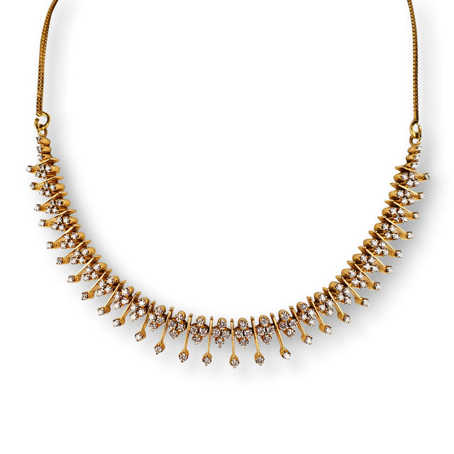 21kt Yellow Gold Diamond Necklace
