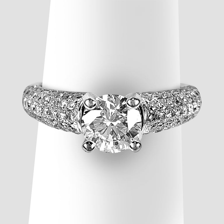 Diamond Ring with Pave Sides