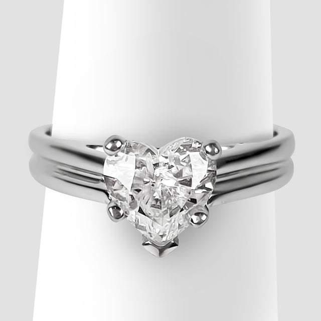 Solitaire Heart Diamond Ring