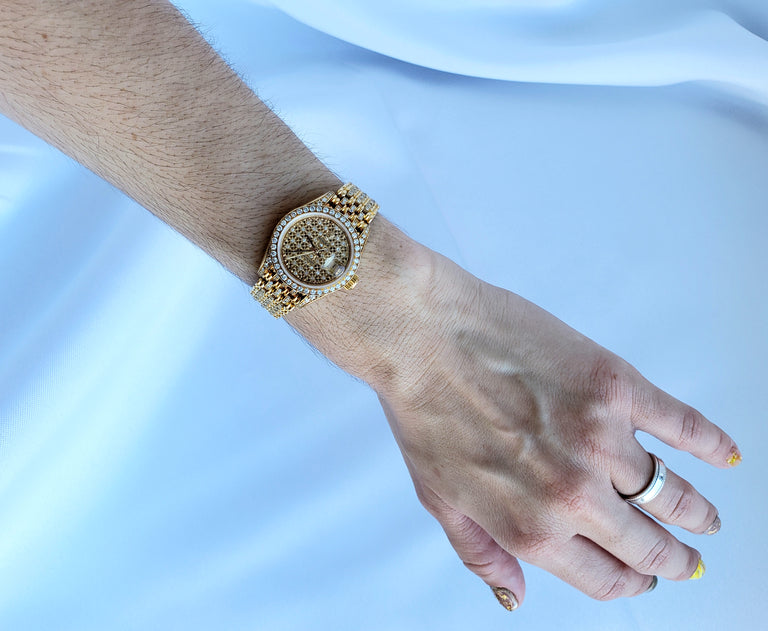 Rolex Ladies Datejust Crown Collection with Diamond Bracelet, 26mm