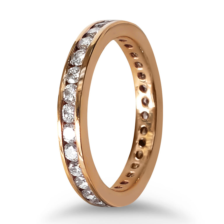 Rose Gold Diamond Eternity Band
