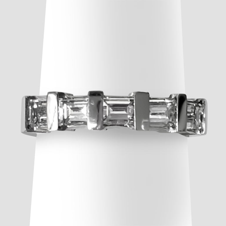 Platinum Baguette Diamond Band