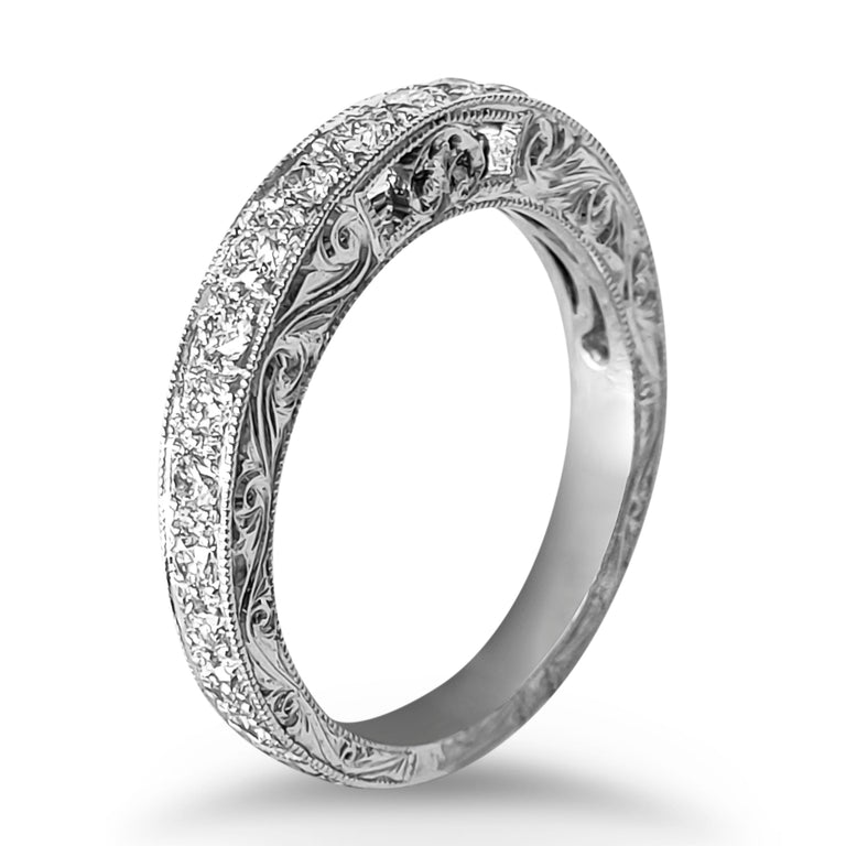 Engraved Diamond Band