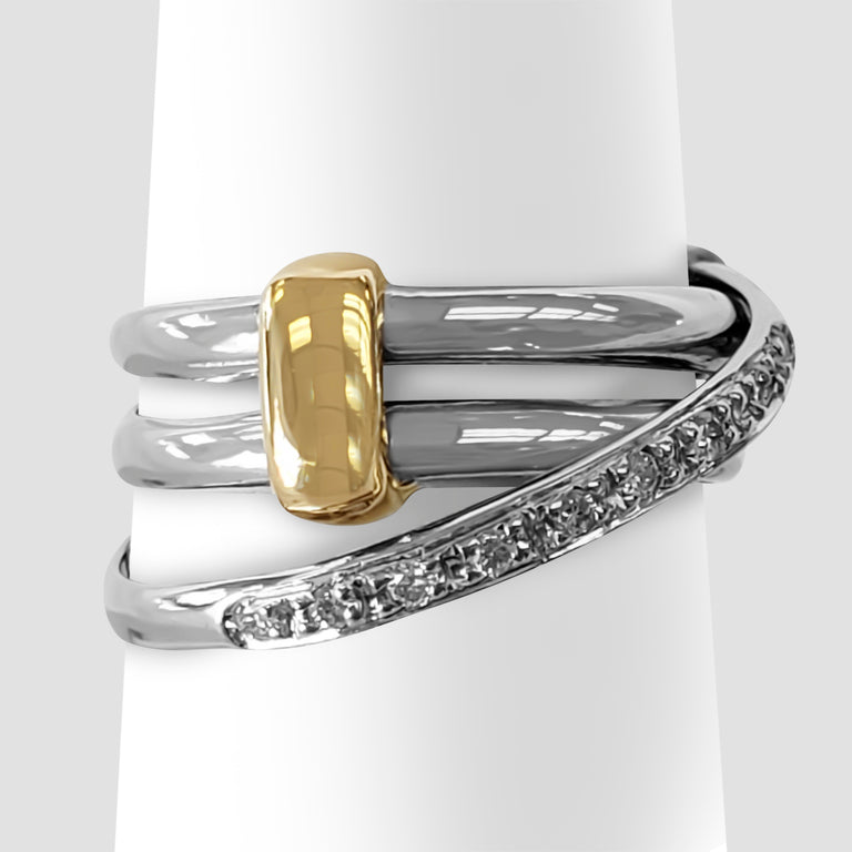 Multi-band Diamond Ring