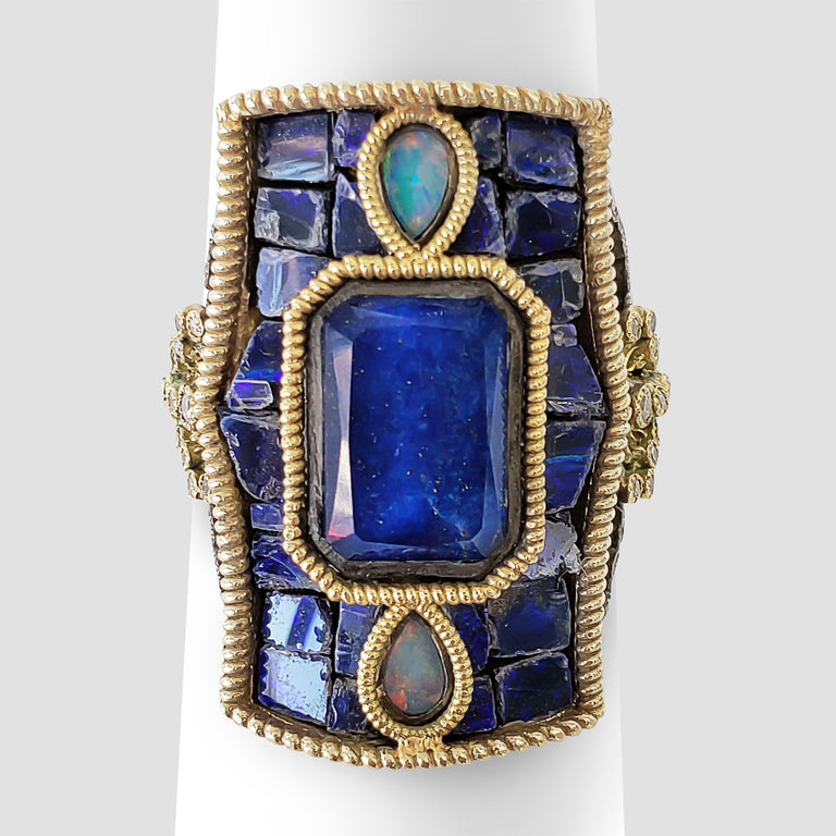 Armenta Lapis and Opal Ring
