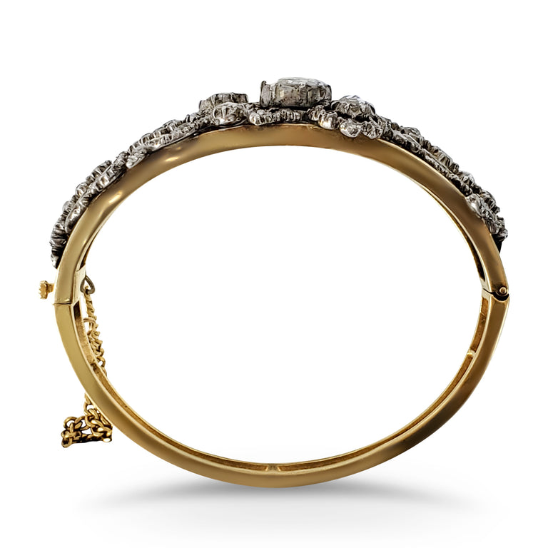 Circa 1800s Diamond Bangle Bracelet