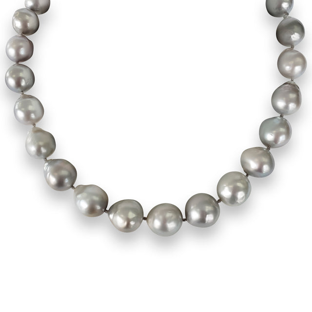 Light Grey Pearl Necklace