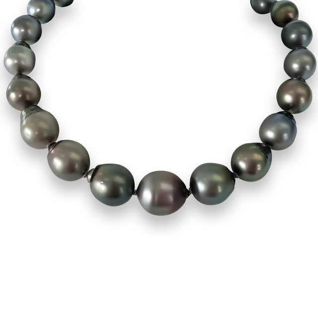 Black Baroque Pearl Necklace