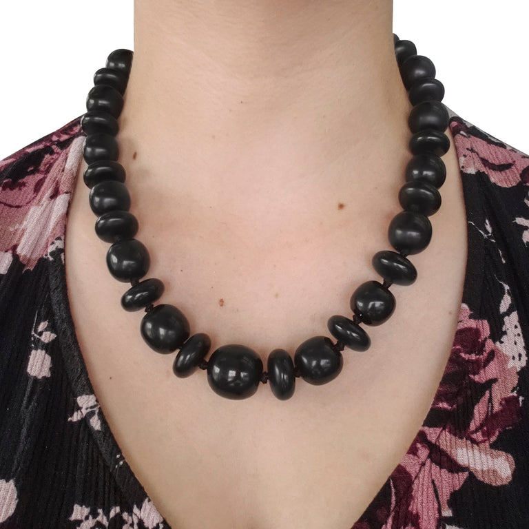 Jet Bead Necklace