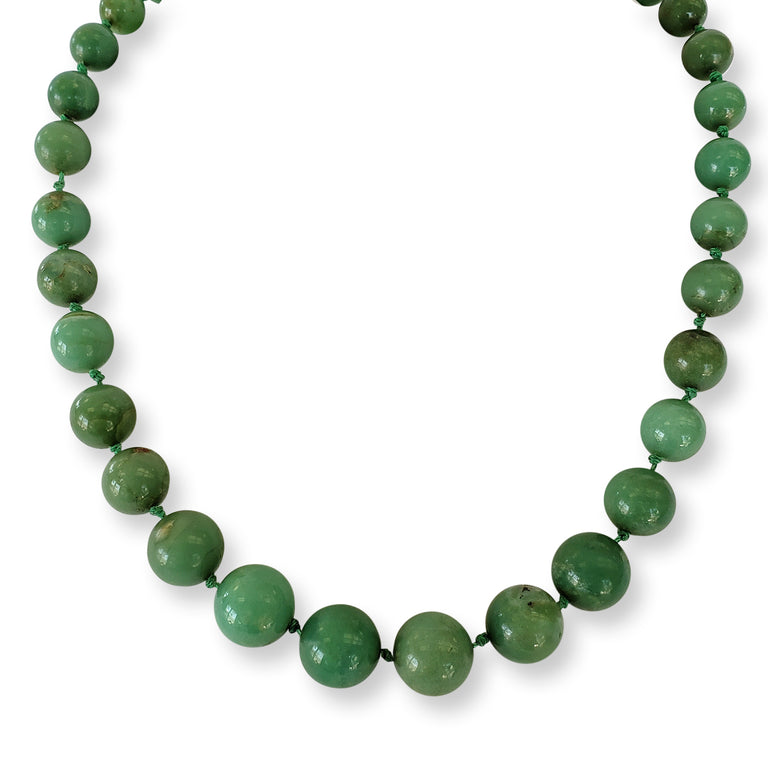 Graduated Jade Bead Necklace