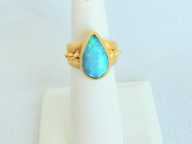 Pear-Shaped Opal Ring