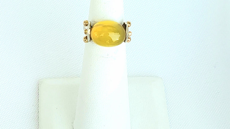 Cabochon Chrysoprase Ring