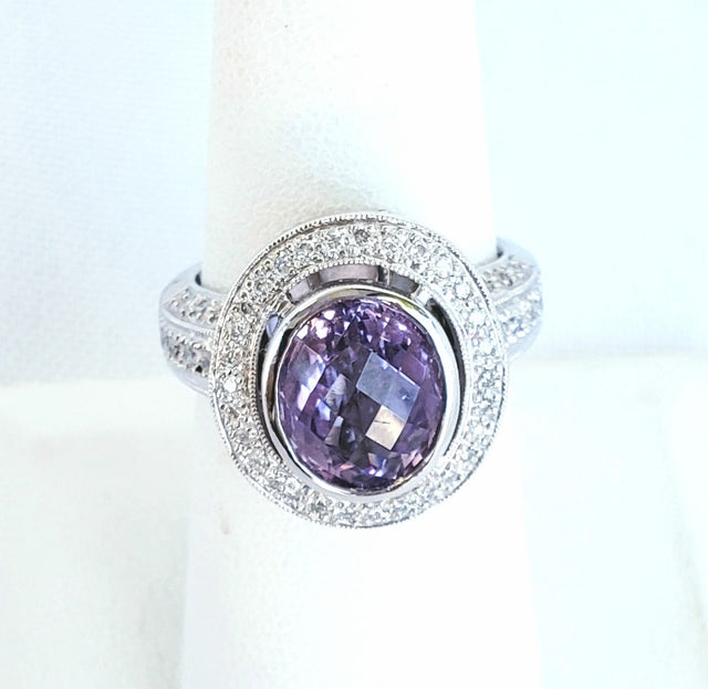 Diamond Amethyst Ring