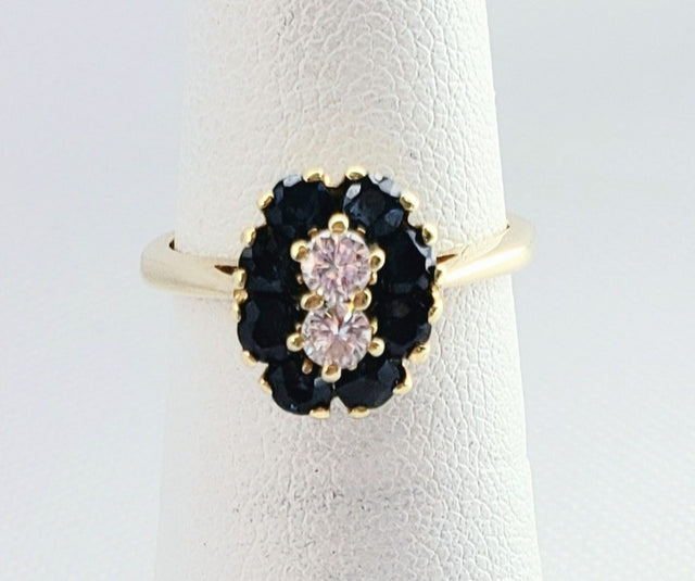 Flower-Shaped Sapphire Ring