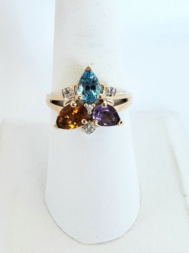 Multicolored Gemstone Ring