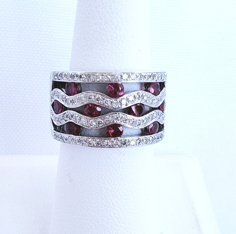 Diamond Ruby Ring