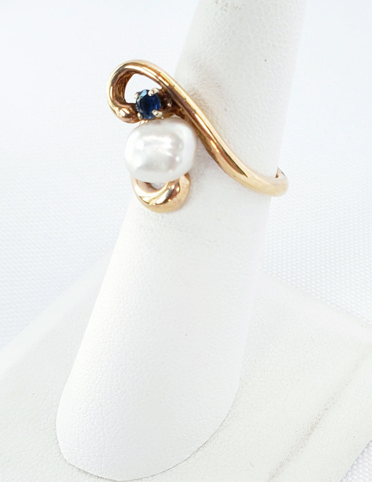 Pearl and Sapphire Ring