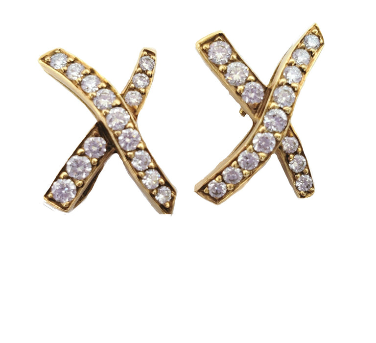 Tiffany and Co. X Diamond Earrings