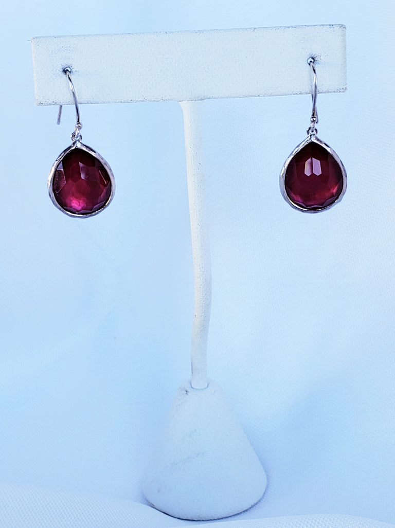 Ippolita Pink Quartz and Mother of Pearl Teardrop Earrings