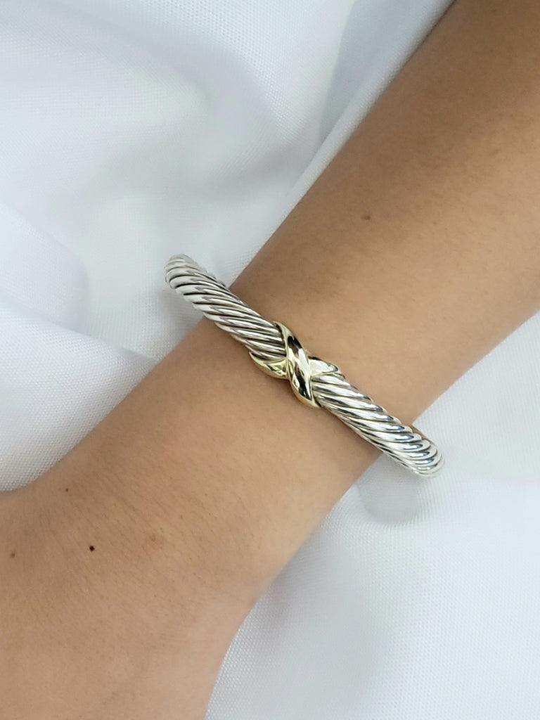 David Yurman Classic Cable Bracelet with 14K White Gold