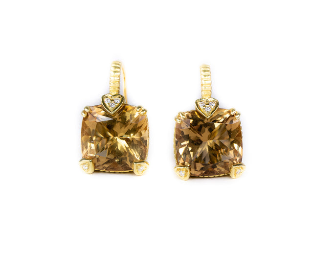 JR Citrine and Diamond Earrings