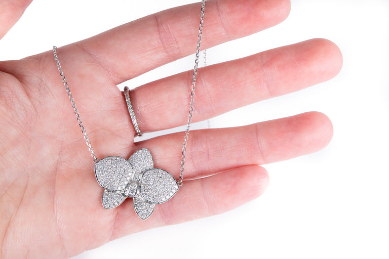 Orchid Diamond Necklace