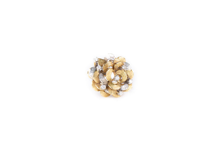 Gold Diamond Flower Ring