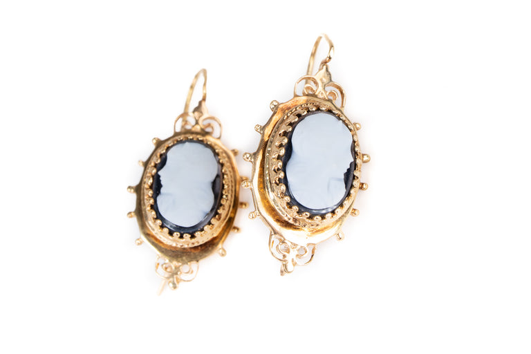 Cameo Vintage Earrings