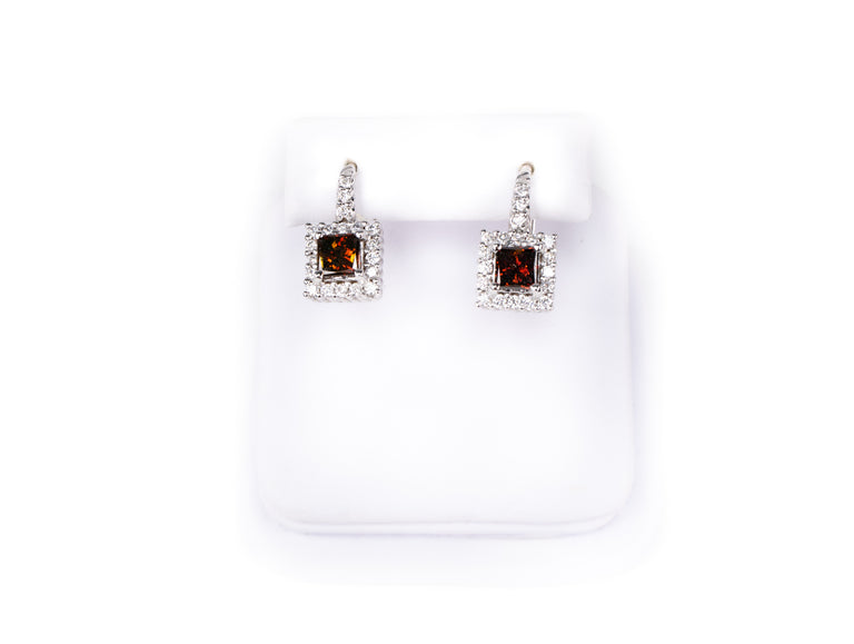 Cognac Diamond Earrings