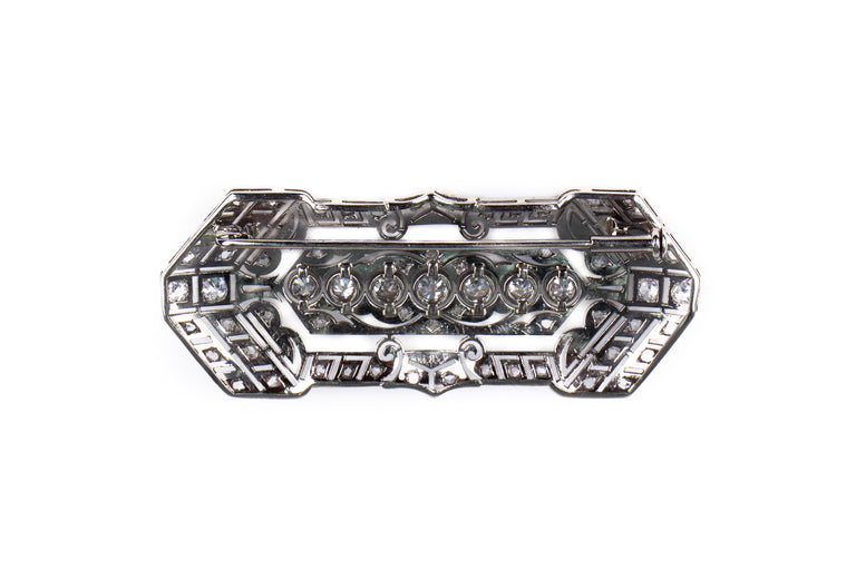 Fancy Antique Diamond Brooch
