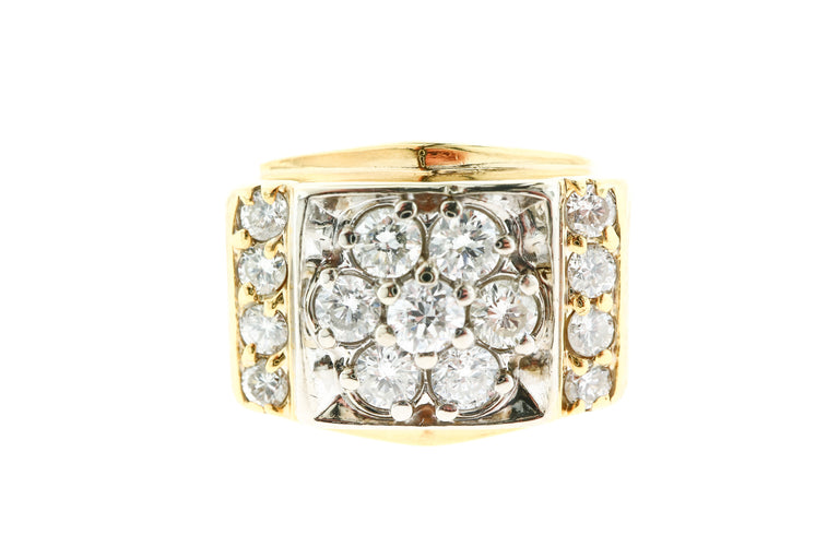 Diamond Cluster Men's Ring