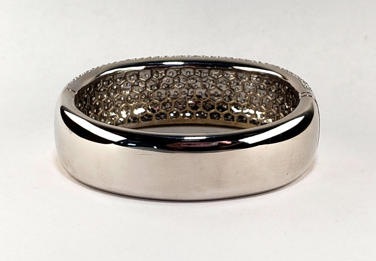 Pave-set Diamond Bangle