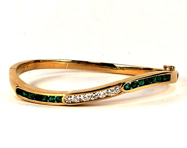 Emerald Diamond Cuff