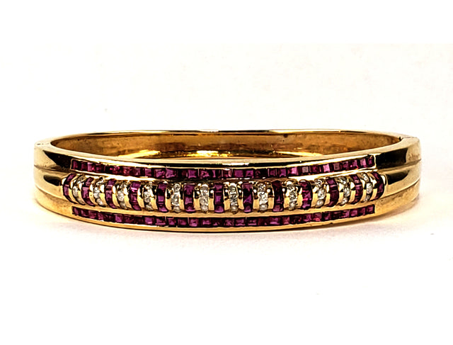 Ruby Diamond Gold Cuff