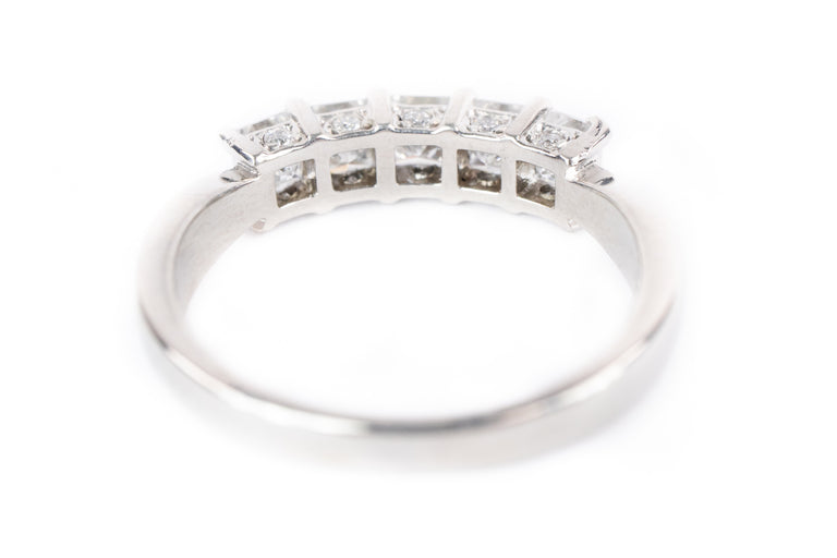 Princess Cut 5 Diamond Band