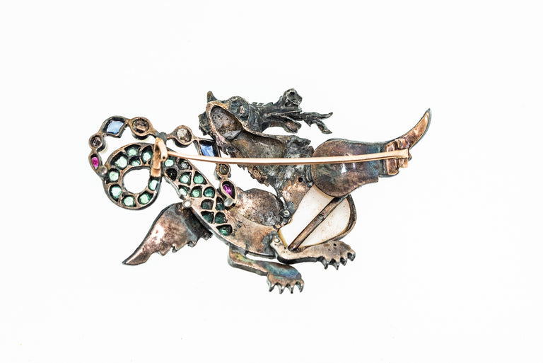 Antique Dragon Brooch