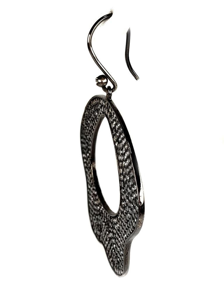 Black Rhodium Diamond Earrings