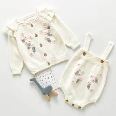 The blossom knitted romper