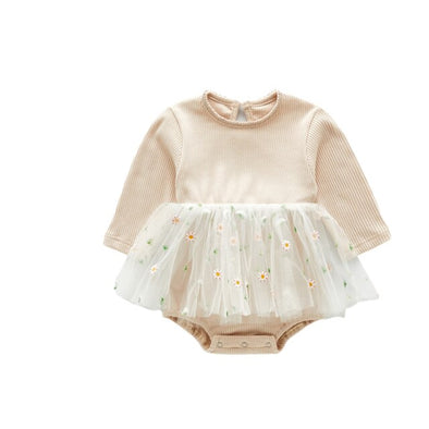 Long sleeve daisy tutu onesie