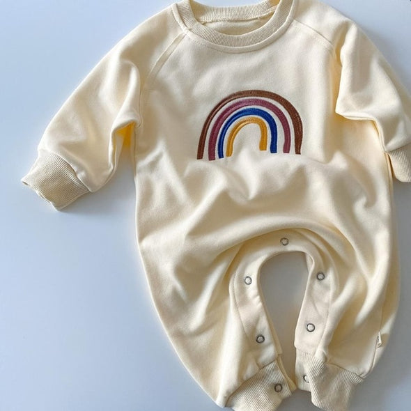 Embroided Rainbow romper