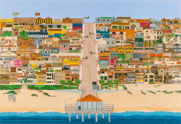 Manhattan Beach Petite Lithograph