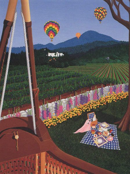 Ballooning to Brunch Serigraph