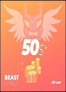 BEASTUNBOX.COM $50 GIFT CARD \ TOP UP CARD (INSTANT DELIVERY) - (PC) - (Official Website) - (Digital Download)