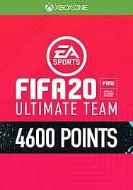 FIFA 20 - 4600 FUT Points (Xbox One) (INSTANT DELIVERY) - (Official Website) - (Digital Download)