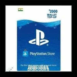 PSN 2000 INR GIFT CARD \ TOP UP CARD - (INDIA) (INSTANT DELIVERY) - (Official Website) - (Digital Download) - DIGICODES