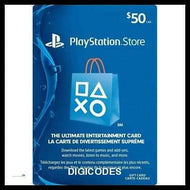 PSN 50 CAD (INSTANT DELIVERY) - (Official Website) - (Digital Download) - DIGICODES